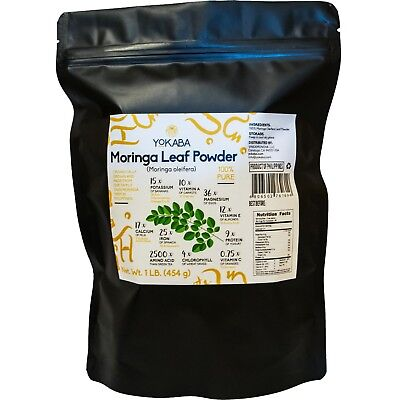 Moringa Oleifera Leaf Powder 1 lb ( 16oz ) - Organic, Natural 100% Pure , YOKABA 9