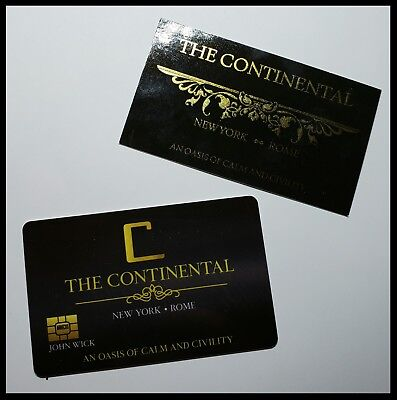 John Wick Cosplay Movie Prop Continental Hotel Comiccon Baba Yaga Reeves No Coin 4