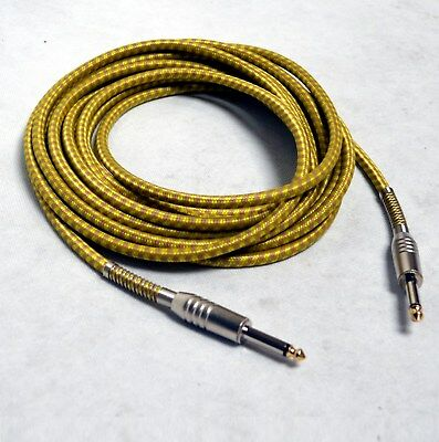 TWEET KABEL 6m _^^ gold-gelb ^^_ GOLDTIP, Klinke 6.3, Gitarrenkabel, TKgelb