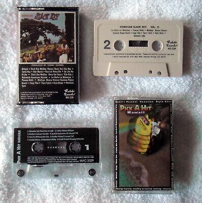 4 Hawaiian Cassette Tapes Pick a Hit Hawaii & Slack Key Volume II Don Ho Aloha 3