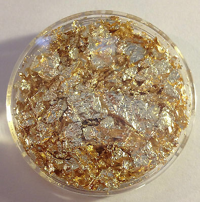Large 50 mm Capsule full of Gold Leaf/Flake (Great Gift)