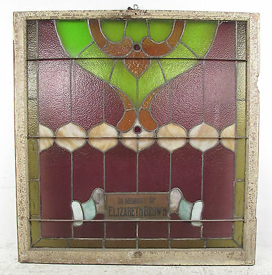 Antique Vintage Hanging Stained Glass Window (1323)NJ 2