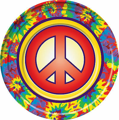 mottoparty 60er 70er 80er jahre party tisch deko hippie flower power peace eur 6 99 picclick de. Black Bedroom Furniture Sets. Home Design Ideas
