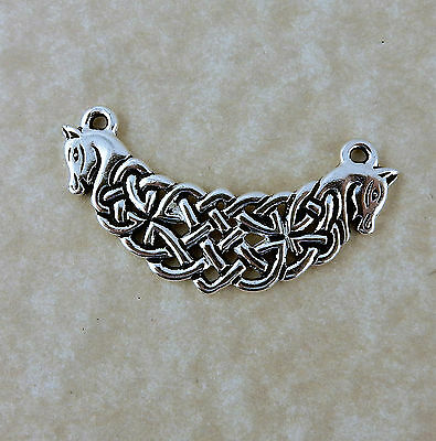 Silver Celtic Knot horse, Connemara ponies pendant jewelry making, Irish 3