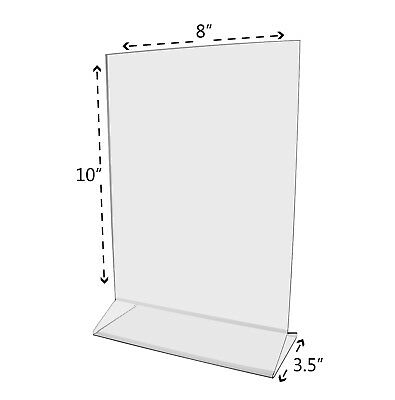 """8""""W x 10""""H Sign Holder Ad Frame Acrylic Double Sided Table Table Tent Qty 12 2"""