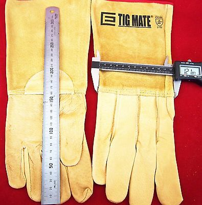 Small TIGMATE TIG welders Gloves Top Quality Leather TIG gloves Kevlar OZ SELLER