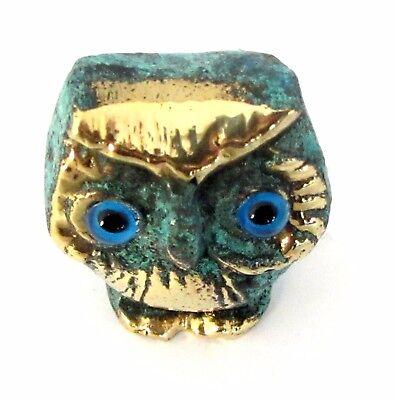 Owl Symbol Of Athena Goddess Of Wisdom Ancient Greek Bronze Museum Replica 4