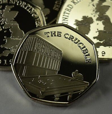 Pair of THE CRUCIBLE Commemoratives. 24ct Gold. Silver. Albums/Filler 2019 4
