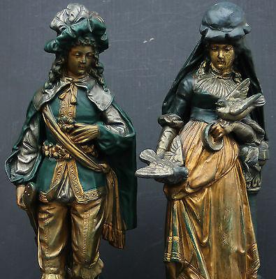 Keramik Figurenpaar Historismus um 1860 , U&C Uffrecht &Co , sammelwürdig !