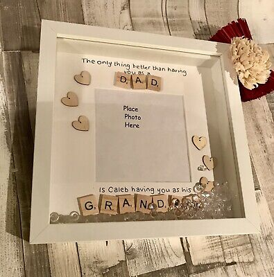 Personalised Wooden Sign Plaque Photo Gift Uncle Grandad Dad Daddy Chic