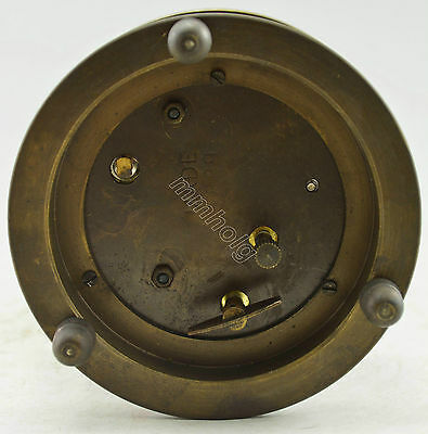 Collectible Decorated Old Handwork Copper 2 Bird In Cage Mechanical Table Clock 5
