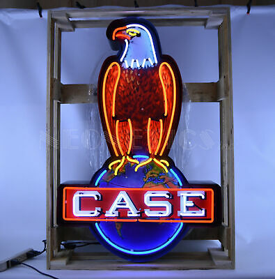 Neon clock Sign Case IH CaseIH international harvester tractor farm wall lamp