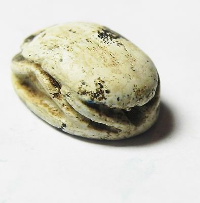 Zurqieh -Af518- Ancient Egypt , New Kingdom Stone Scarab. 1400 B.c 4