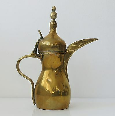 "Copper Antique 11"" Dallah Arabic Middle East Kettle Pot Marked 9"