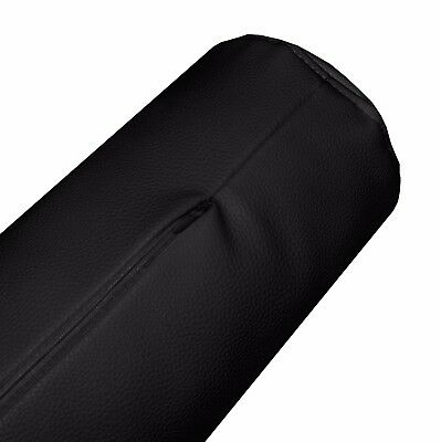 pb306g Brown Soft Faux Leather Skin Bolster Cushion Cover Yoga Neck Roll Case