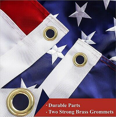 2-PACK | American Flag US USA | 3x5ft | Embroidered Stars, Sewn Stripes 4