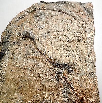 Ancient Roman Lead Plaque Sol Invictus Dioscuri Altar Dolphin Horse i44983 5