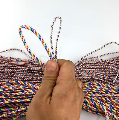 50-100FT 2mm diam Paracord Micro Cord Parachute Cord Tent Lanyard Rope Survival 5