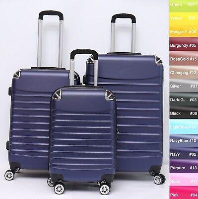 Koffer B-102 Hartschalenkoffer Trolley Kofferset Reisekoffer M-L-XL-Set 5