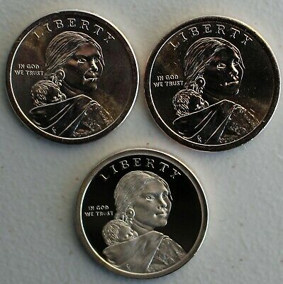2019 PDS Sacagawea Dollar Native American Indians In the Space Program 3 Coin $1 3