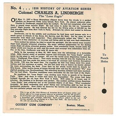 1936 Goudey History Of Aviation Complete 10 Card Set Unpunched 12