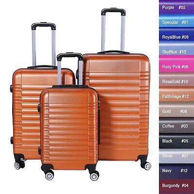 Reisekoffer xH003 Koffer Trolley Hartschalenkoffer Handgepäck 4Rollen M-L-XL-Set 7