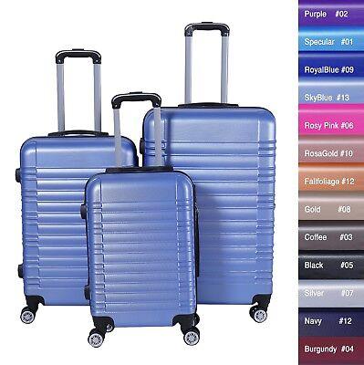 Reisekoffer xH003 Koffer Trolley Hartschalenkoffer Handgepäck 4Rollen M-L-XL-Set 6