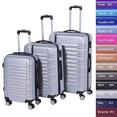Reisekoffer xH003 Koffer Trolley Hartschalenkoffer Handgepäck 4Rollen M-L-XL-Set 9