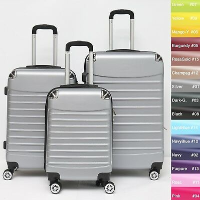 Koffer B-102 Hartschalenkoffer Trolley Kofferset Reisekoffer M-L-XL-Set 10