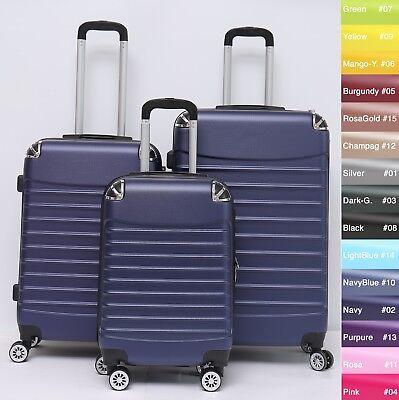 Reisekoffer Dehnungsfuge Koffer Trolley Hartschalenkoffer B-102 4-Rollen M L XL 6