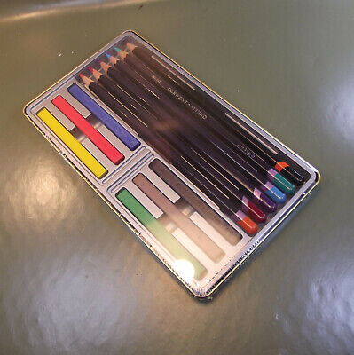 Derwent 12 Colour Collection pencils Tin Made in UK No 0700211. New and sealed 2