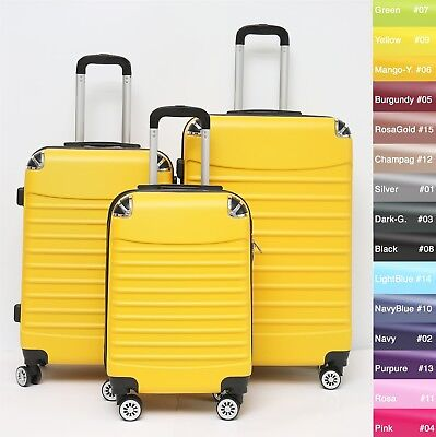 Koffer B-102 Hartschalenkoffer Trolley Kofferset Reisekoffer M-L-XL-Set 4