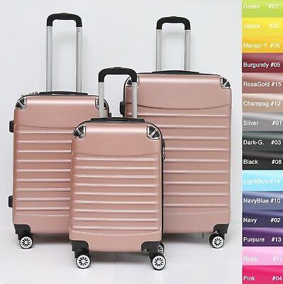 Koffer B-102 Hartschalenkoffer Trolley Kofferset Reisekoffer M-L-XL-Set 6