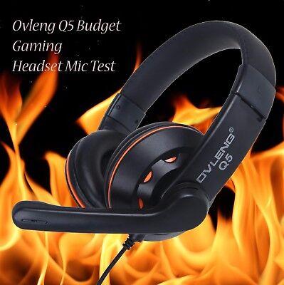 Cascos auriculares con micrófono gaming para pc cable usb OVLENG Q5 4