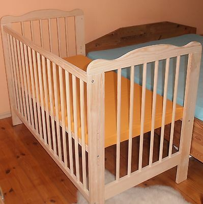 Beistellbett Babybett Komplett Set Gitterbett Kinderbett 2 in1 Massivholz 2