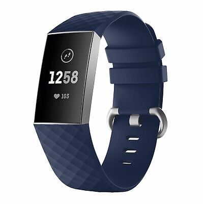 For OEM Fitbit Charge 3 Replacement Wrist Band Silicone Bracelet Watch Rate Fit 11