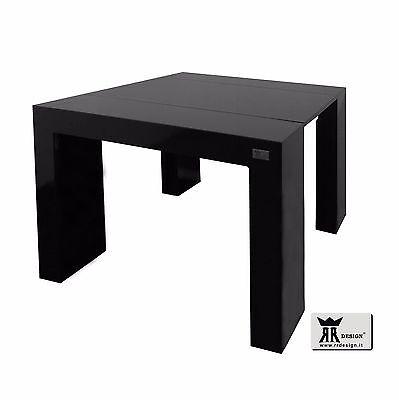 Tavolo Consolle Allungabile Nero.Tavolo Consolle Allungabile 3 Metri Laccato Bianco Lucido O Opaco E