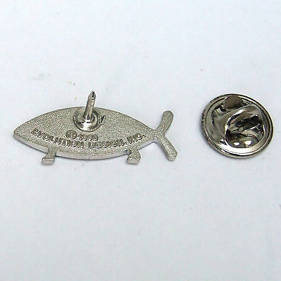 on Legs silver Effect Lapel Pin Darwin Fish Special Buy