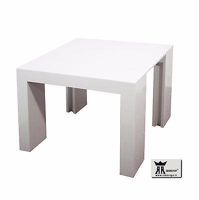 Tavolo Consolle Allungabile Bianco.Tavolo Consolle Allungabile 3 Metri Laccato Bianco Lucido E Nero
