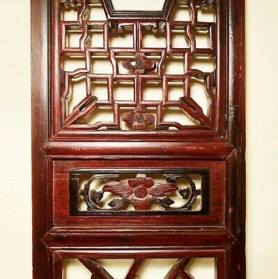 Antique Chinese Screen Panels (2968)(Pair), Cunninghamia Wood, Circa 1800-1849 8