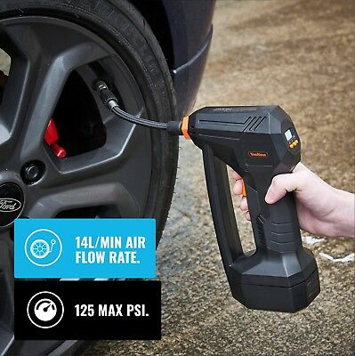 VonHaus Digital Tyre Inflator Cordless Handheld Air Compressor / Automatic Pump 3