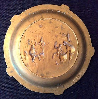 Antiguo Cenicero De Bronce 6