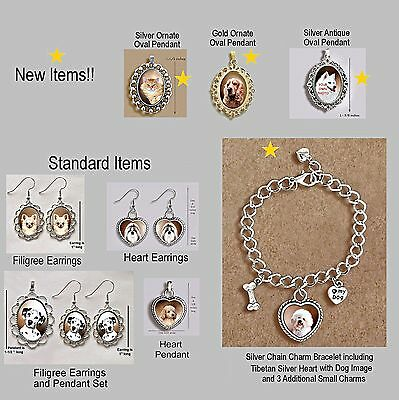 AMERICAN ESKIMO DOG Ornate HEART PENDANT Tibetan Silver