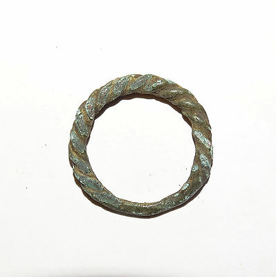 Goodly Twisted  bronze  Viking finger ring . ca 800-1000 AD. Kievan Rus. Viking. 2