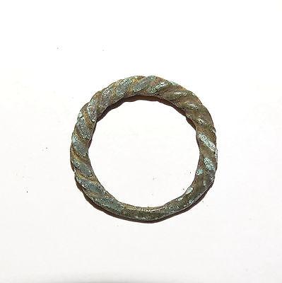 Goodly Twisted  bronze  Viking finger ring . ca 800-1000 AD. Kievan Rus. Viking. 2