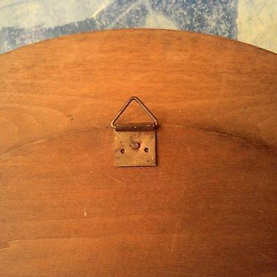 Antiguo Cuadro De Madera Y Cobre Repujado Con Bonita Escena Rústica