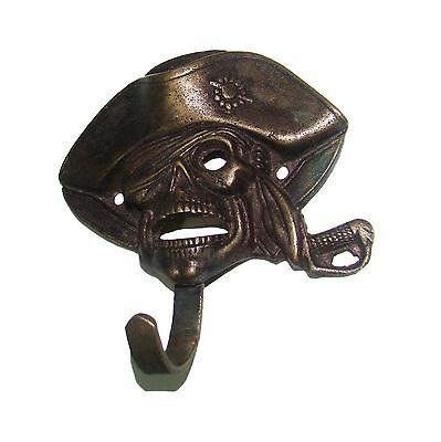 A MARVELOUS  Attractive Brass PIRATE of CARIBBEAN Designed coat hook from India 3
