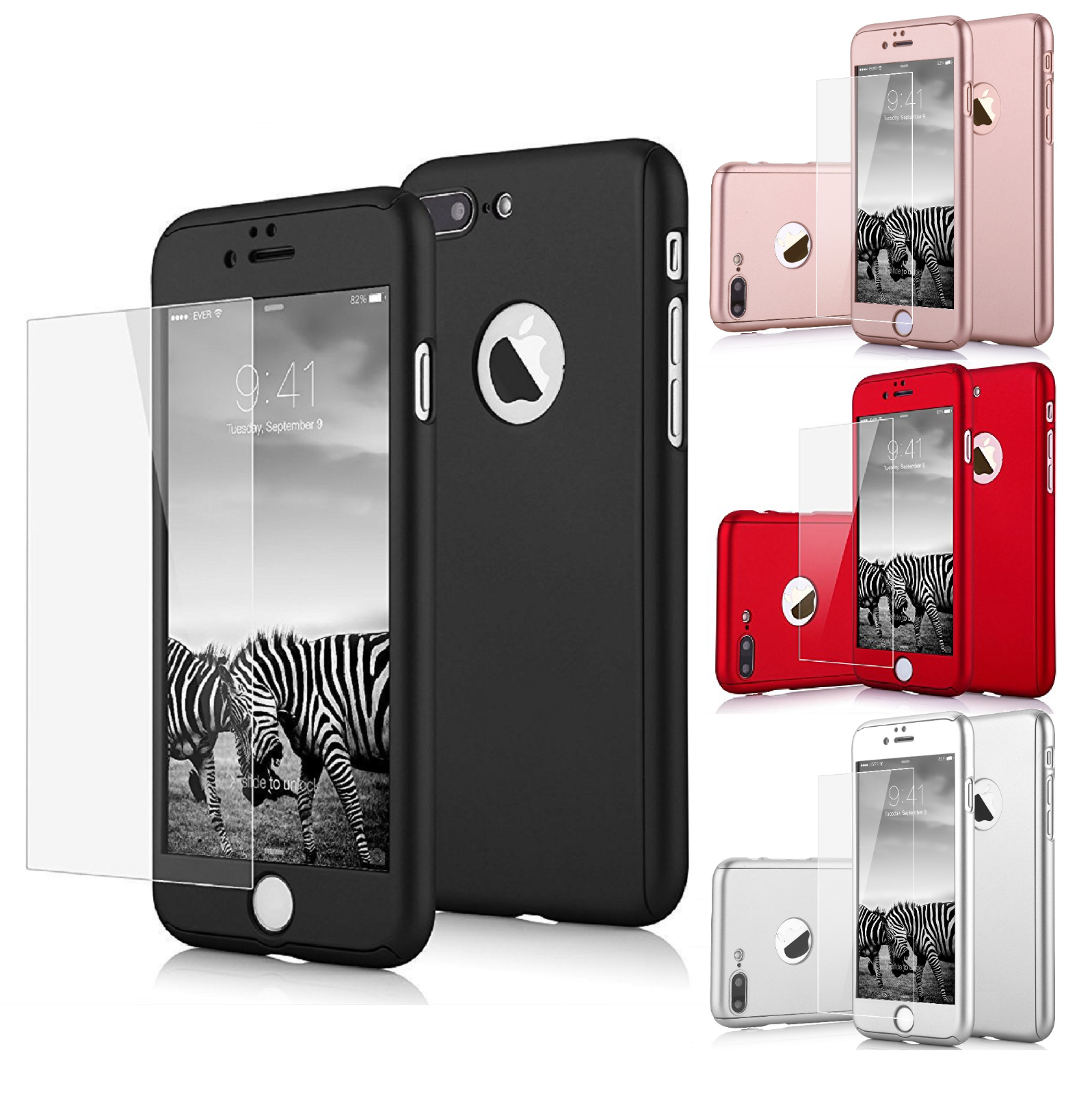 360° Shockproof Full Tempered Glass Case Cover For iPhone X XS Max XR 8 6 7 Plus 2