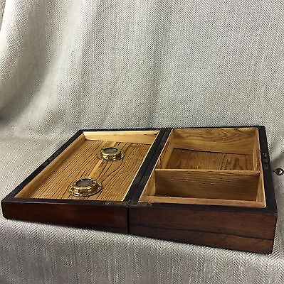 Antique cigar Humidor Victorian Rosewood Box Inlaid Mother Of Pearl 10