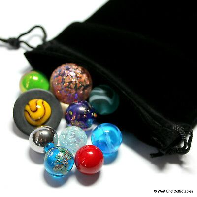 Mini Solar System Marble Set - 14-22mm Orrery Globe Planet Glass Marbles -Earth 3